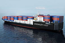 Crowley receives two heavy lift barges