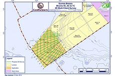Exclusive 2D multi-client extension offshore Guinea Bissau