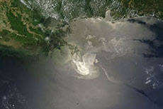Gulf of Mexico Oil Sheen dissipates