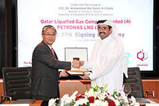 Qatargas and Petronas sign LNG agreement