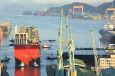 Shell FLNG unit floated