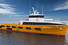 New crew transfer vessel for the international oil and gas market