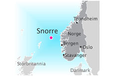 Production from Snorre B template shut down