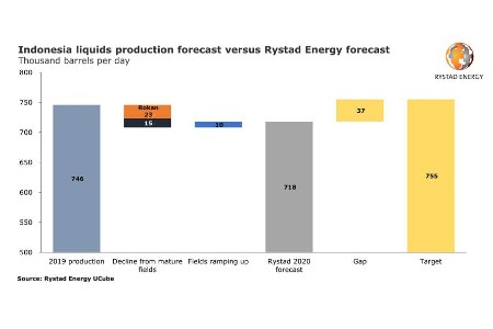 Rystad Energy: Indonesia's 2020 oil and gas output likely to fall