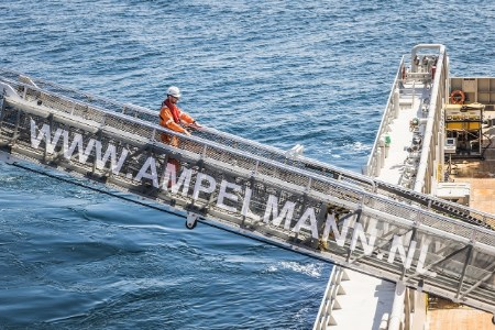 Ampelmann launches electric version of gangway system